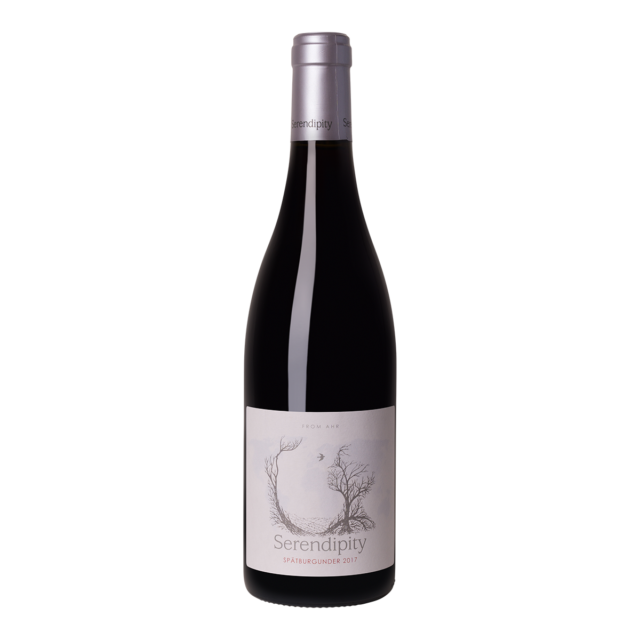 Fles rode wijn Serendipity Spätburgunder