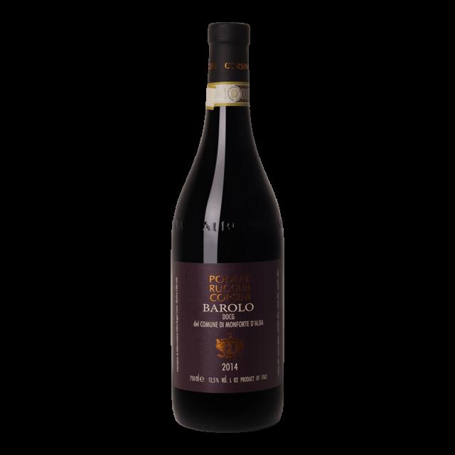 Fles rode wijn Barolo Fodere Ruggeri Corsini