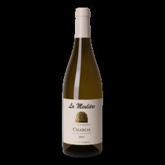 Fles witte wijn Chablis Domaine de la Meulière