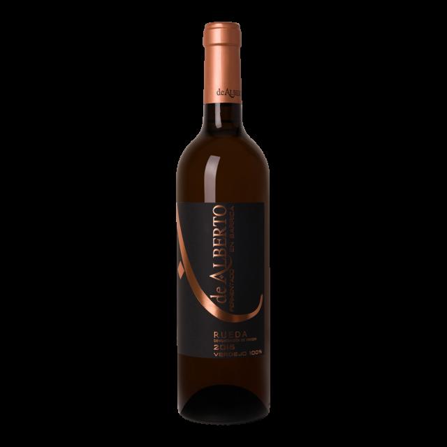 Fles witte wijn De Alberto Verdejo Barrica
