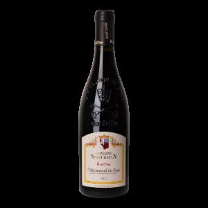 Fles rode wijn Saint Gayan Chateauneuf du Pape